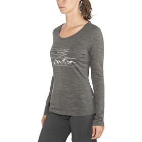 Meru Glomma - Camiseta de manga larga Mujer - gris